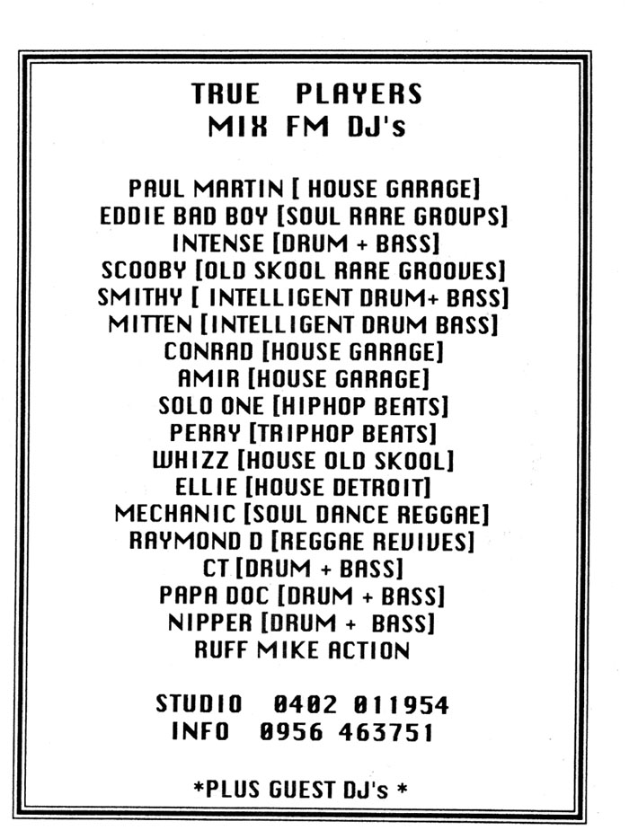 Mix FM - Birmingham - The Pirate Archive